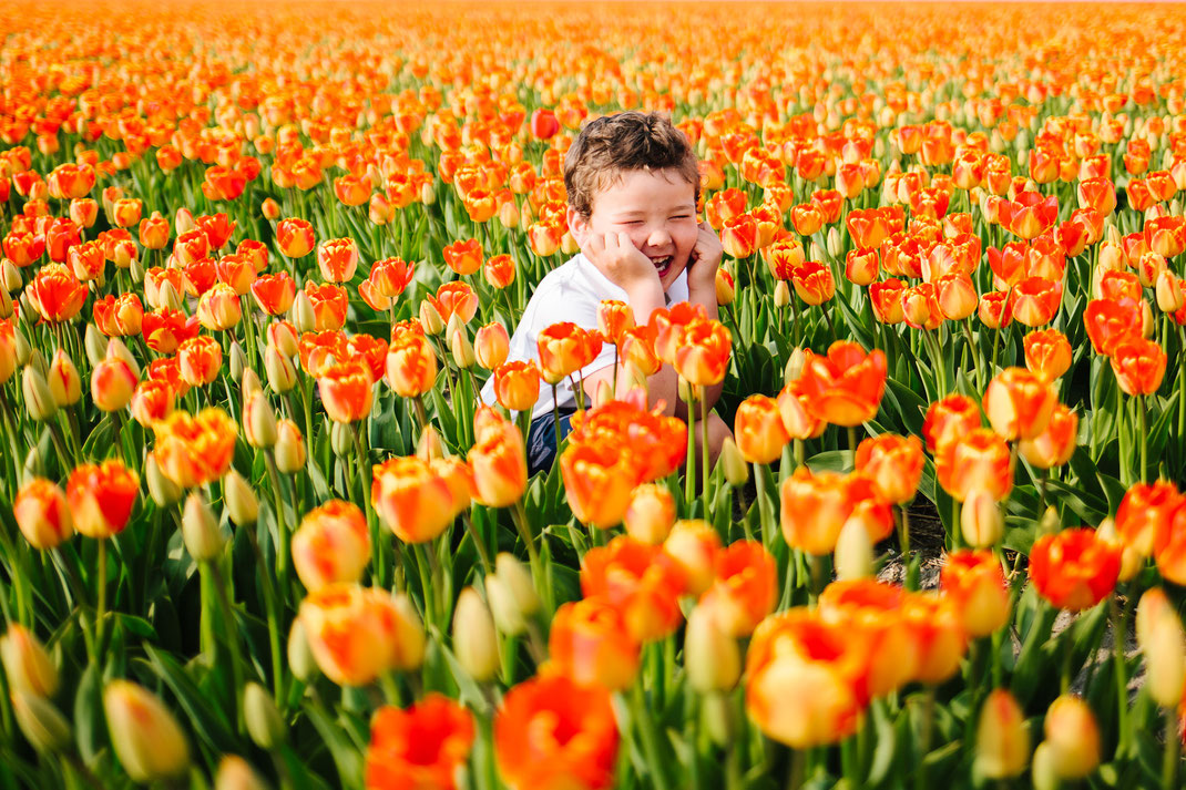 kids photoshoot flower fields Lisse