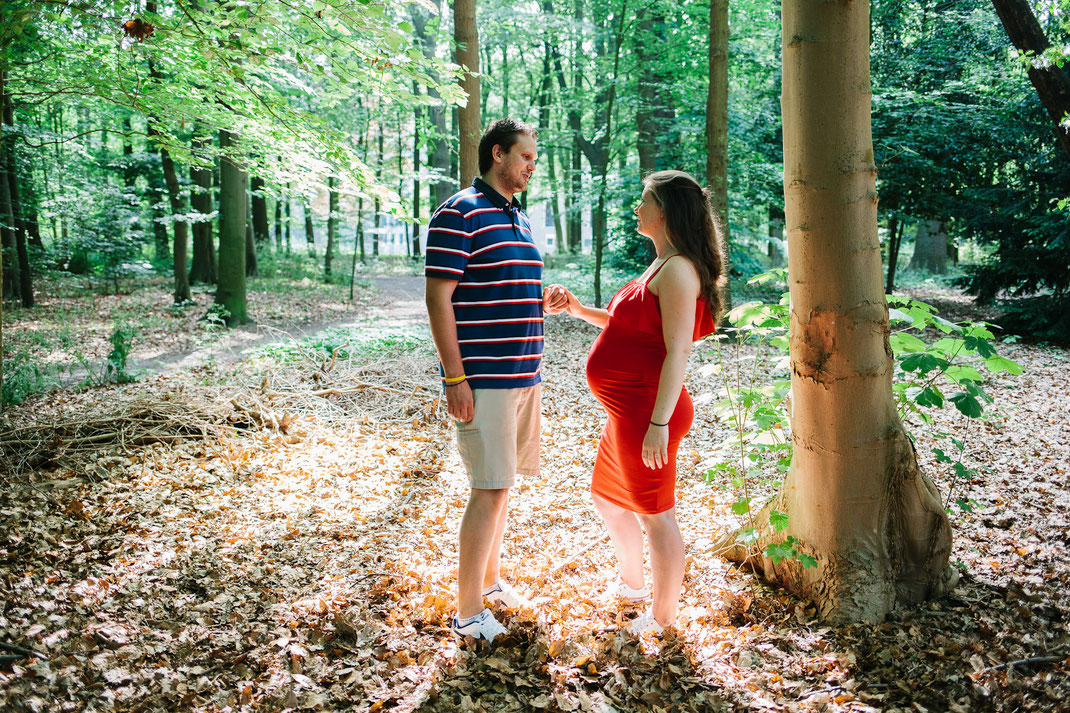 pregnancy shoot in the forest