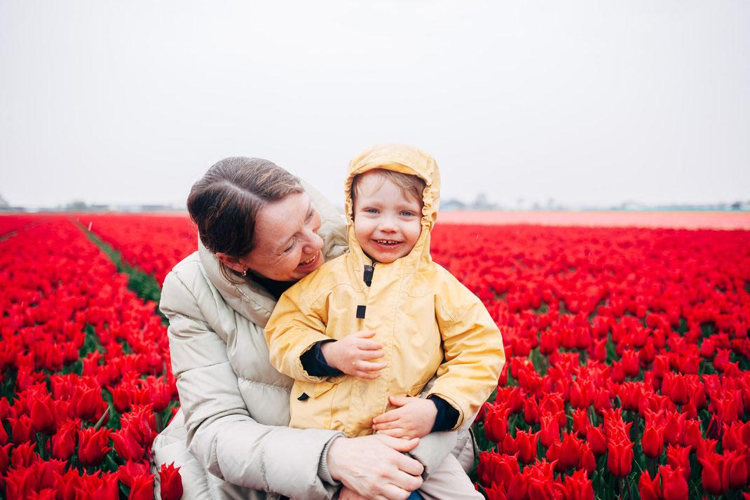 Family photos Lisse tulip fields