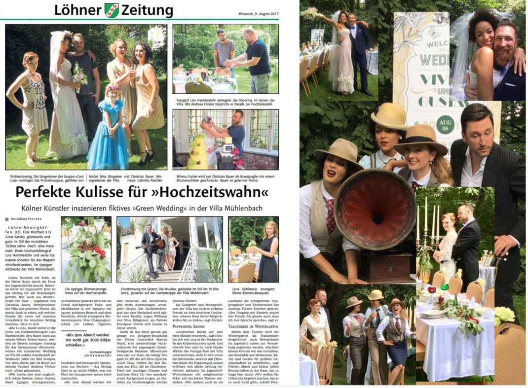 Hochzeitsband mit Swing und Sinn für Romantik im Stile der 20er Jahre