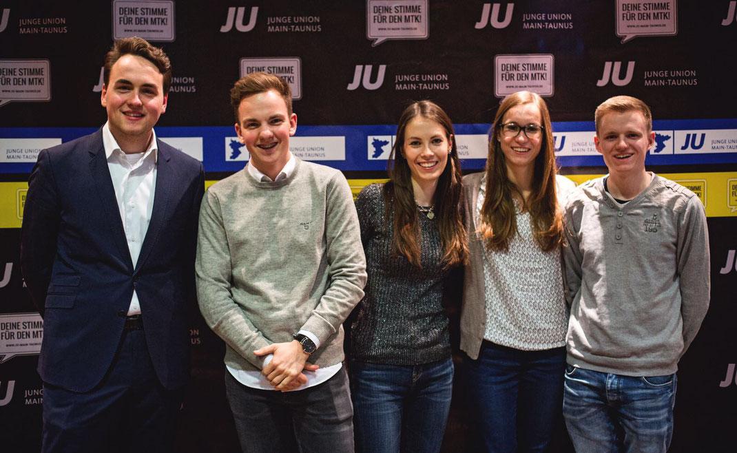 v.l.n.r. Fabian Beine, Justus Hessling, Lavinia Schrage, Jessica Rudolf, Sven Möser