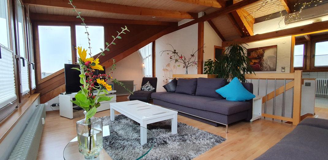 Wohnzimmer Maisonette Ferienwohnung