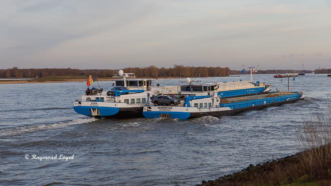 barges on the rhine