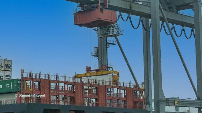 port of rotterdam waalhaven container bridge
