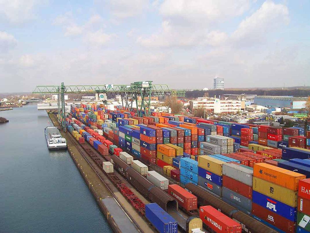 container terminal dortmund aerial view