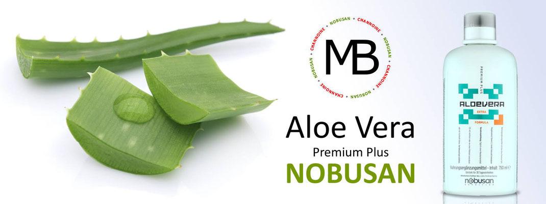 Nobusan Aloe Vera Premium Plus - handgeschält und frei von Aloin, mit natürlichem Gehalt an Aminosäuren und Vitamin C