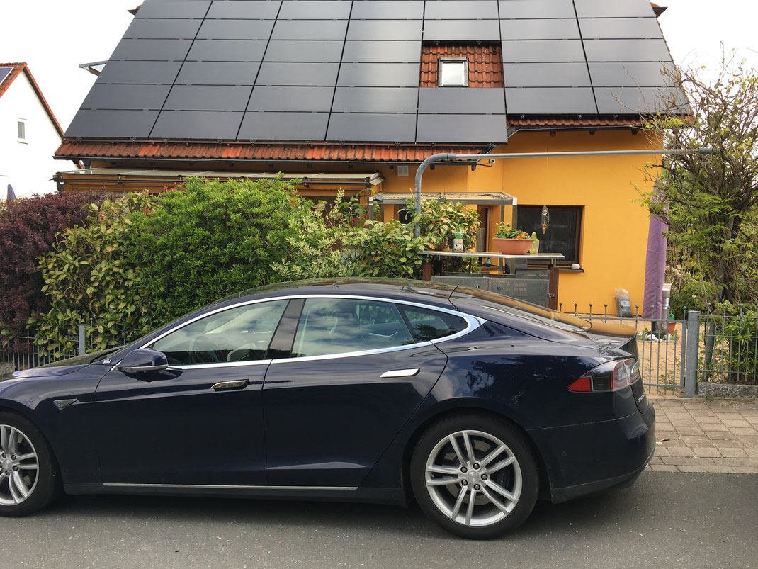 tesla model s oder x elektroauto solar carport konfigurator mit ladestation solar photovoltaik. Black Bedroom Furniture Sets. Home Design Ideas