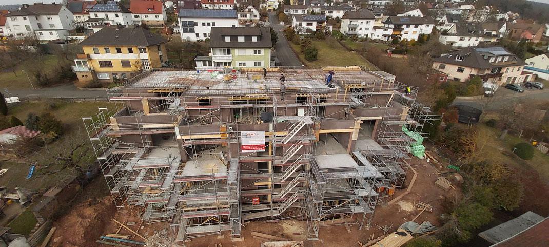 Mehrfamilienhaus in Osthessen - Auch hier mit 42er Blähtonwänden.