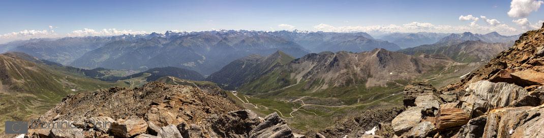 Panorama - Ausblick vom Gipfel des Furglers
