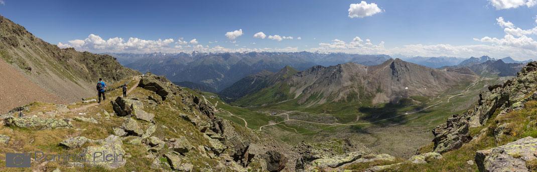 Panorama - Abstieg vom Furgler