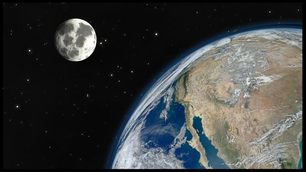 La Tierra y su satélite