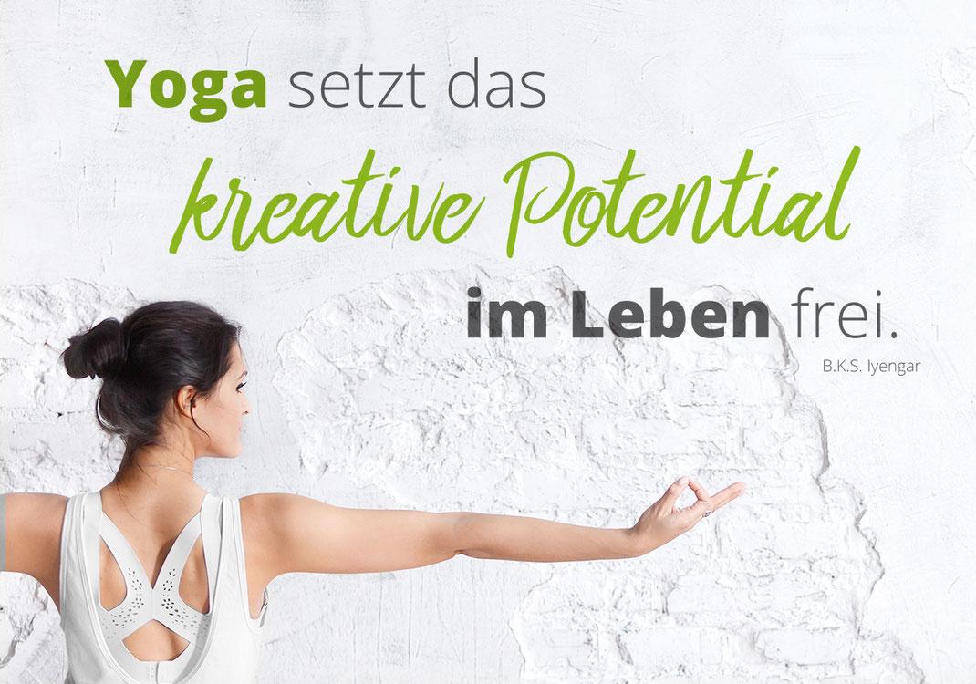 Zitat, Yoga, Kreativ