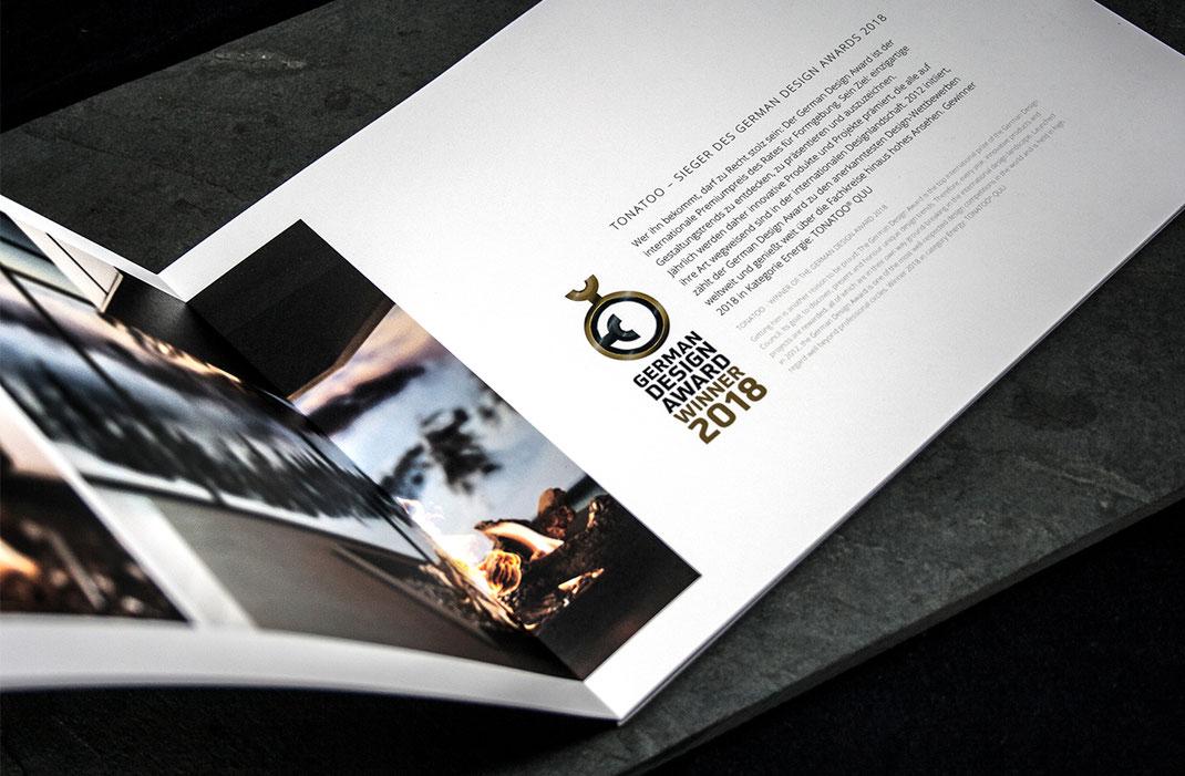 GDA Winner, German Design Award Winner, Broschüre, Tonatoo