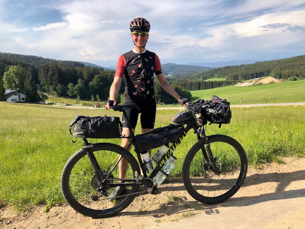 Berghuhn, Bayerischer Wald, Trans Bayerwald, Radreise, Bikepacking, Tailfin