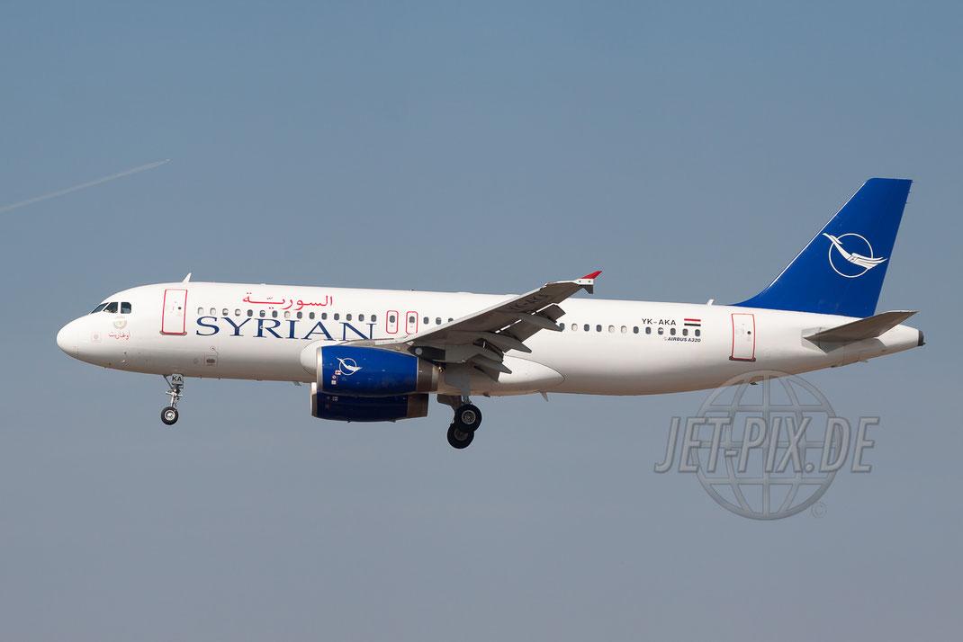 YK-AKA Syrian Airbus A320 2012 03 20 EDDF Frankfurt