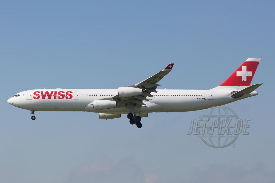 HB-JME Swiss Airbus A340