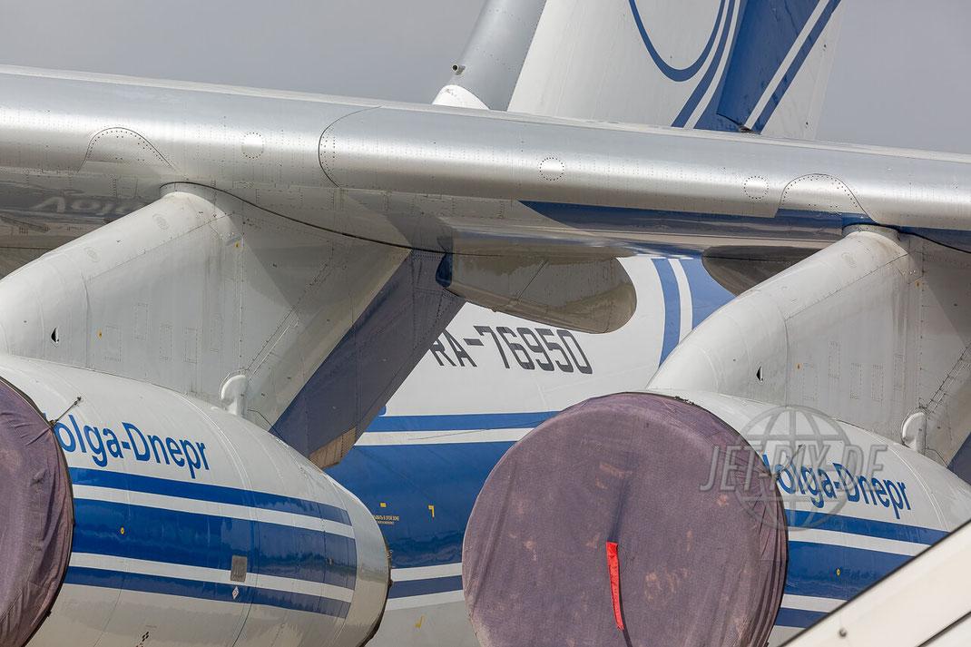 RA-76950 Volga-Dnepr Ilyushin Il-76TD-90VD Frankfurt Hahn (EDFH) Detail Engine Registration