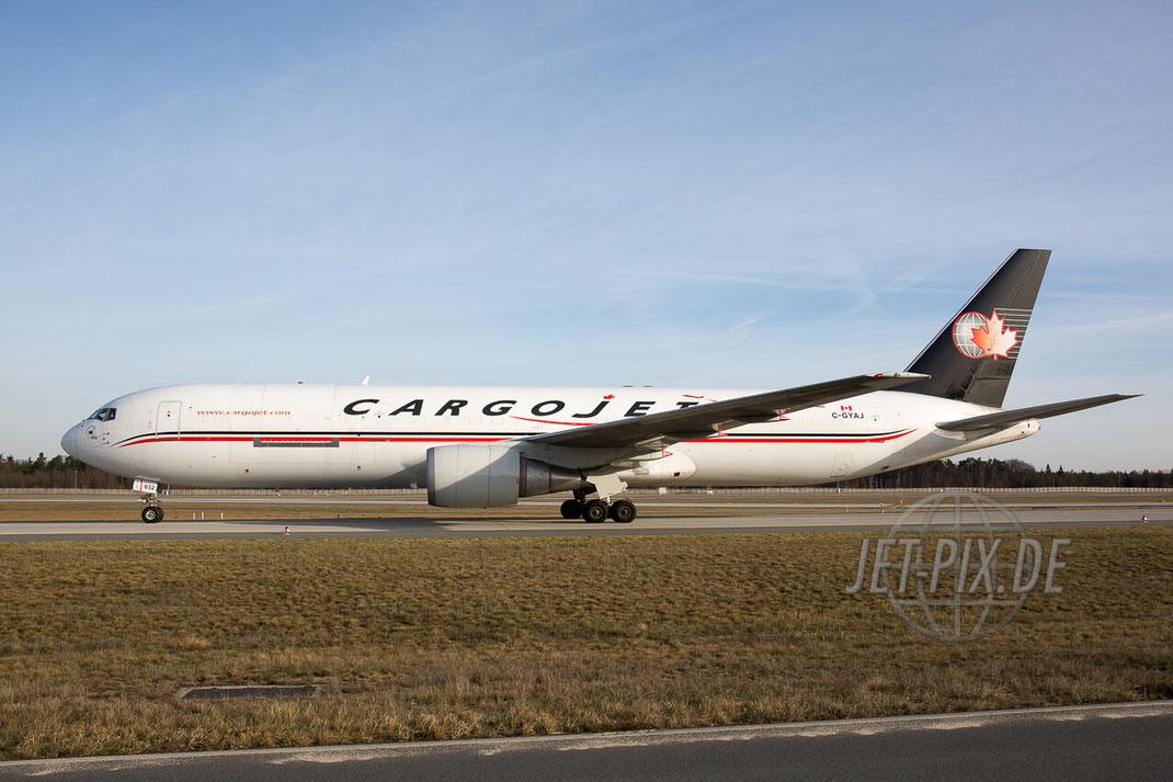 C-GYAJ Cargojet Airways Boeing 767-35E(ER) (BCF) Frankfurter Flughafen EDDF Nordwestbahn Fraport Taxiway Frankfurt Airport Nordwestbahn Planespotter Plane Spotter EDDF Frankfurter Flughafen Planspotter
