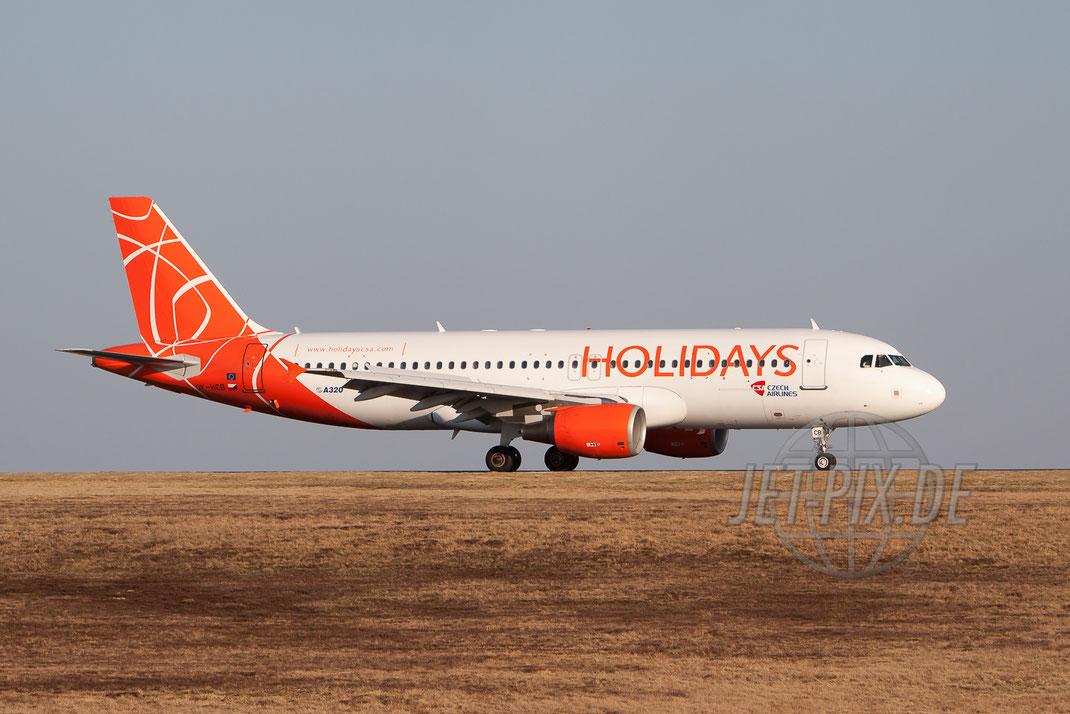 OK-HCB CSA Holidays Airbus A320 2012 03 16 EDFH Hahn
