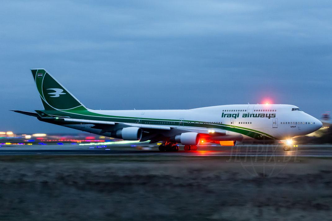 YI-ASA Iraqi Airways Boeing 747-4H6 2014 03 21 EDDF Frankfurt