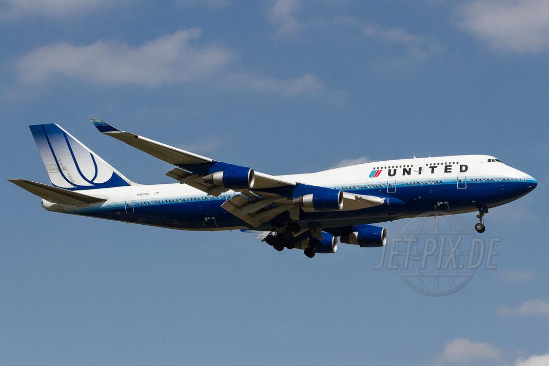 N120UA United Airlines Boeing 747-422 2012 06 28 EDDF Frankfurt