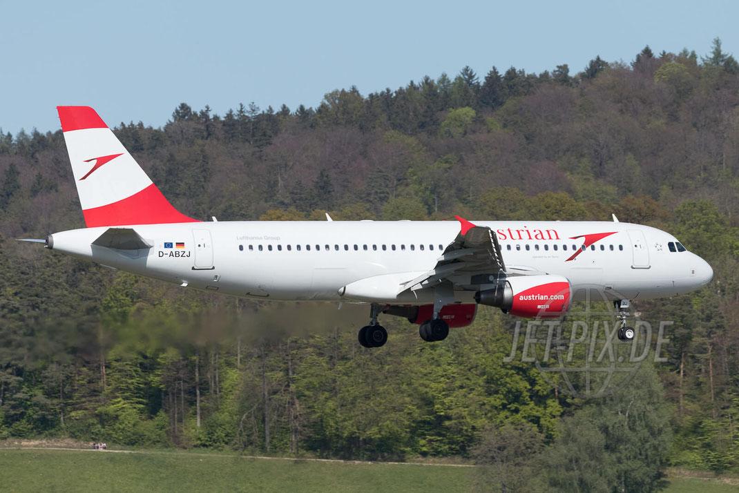D-ABZJ Austrian Airbus A320 2017 04 30 ZRH