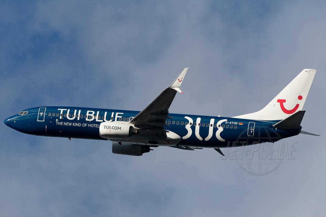 """D-ATUD TUIfly """"TUI BLUE"""" Boeing 737-8K5(WL) 2018 01 16 EDDF Frankfurt"""