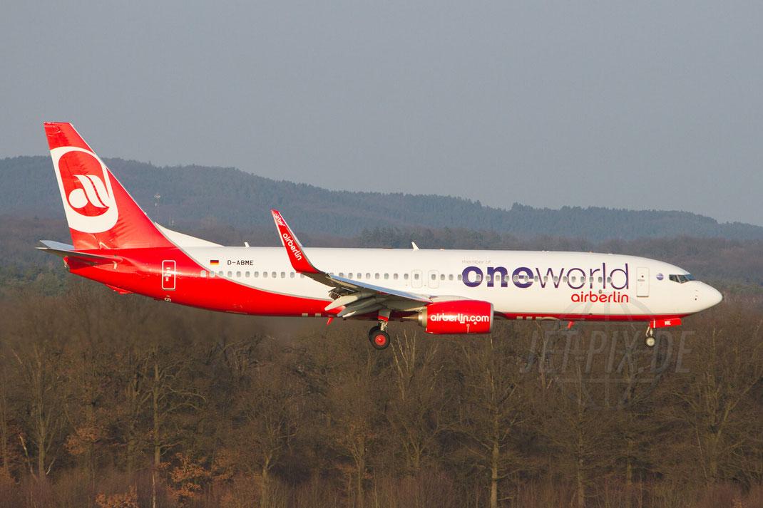 D-ABME Air Berlin Boeing 737 2013 02 18 EDDK Köln Besucherterrasse freier Eintritt Sonntag parken fast gratis  Winterwetter