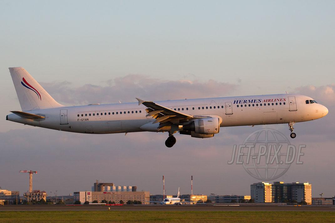 F-GYAN Hermes Airlines Airbus A321 2014 08 31 LFPG Charles de Gaulle