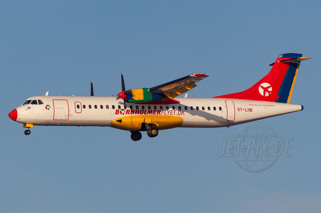 OY-LHB Danish Air Transport DAT ATR-72-202 2014 12 27 EKCH Copenhagen