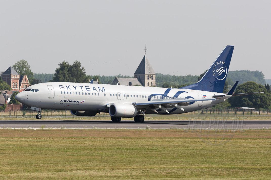 "VP-BMB Aeroflot Boeing 737-8LJ(WL) ""SkyTeam""2017 07 07 Brüssel Zaventem (BRU/EBBR)"
