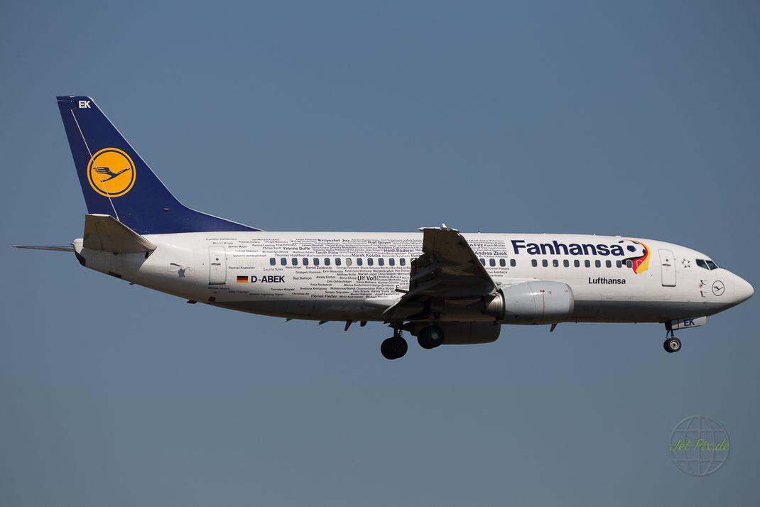 Fanhansa Lackierung Namen Landung tolles Wetter
