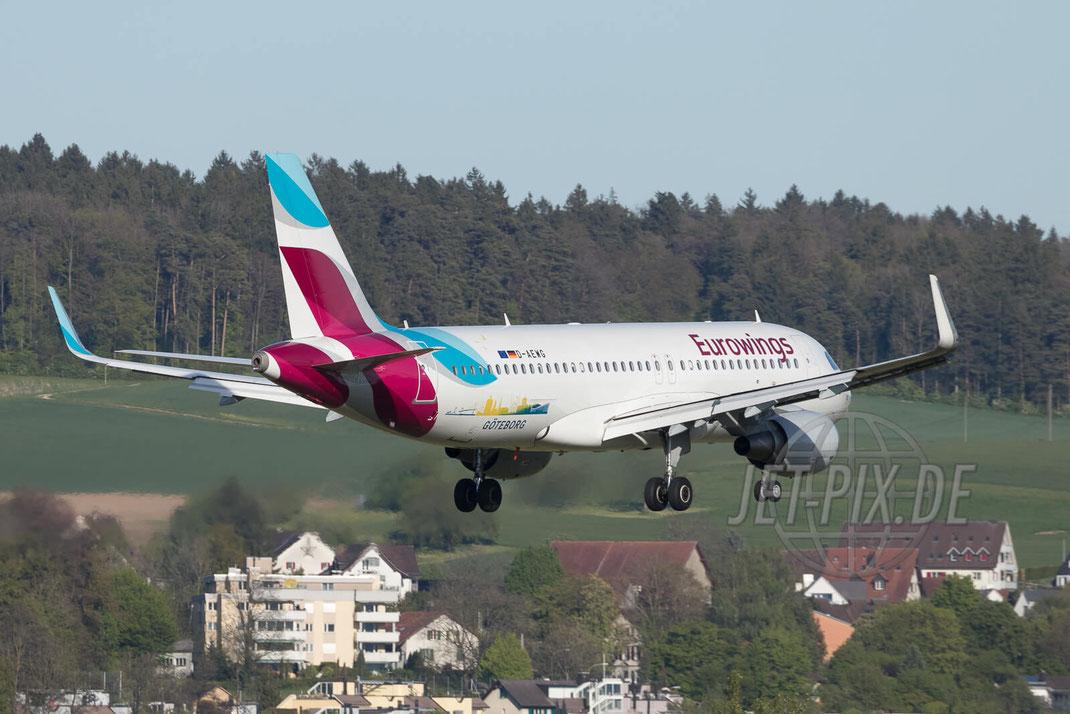 "D-AEWG Eurowings Airbus A320 ""Visit Göteborg"" 2017 04 30 ZRH"
