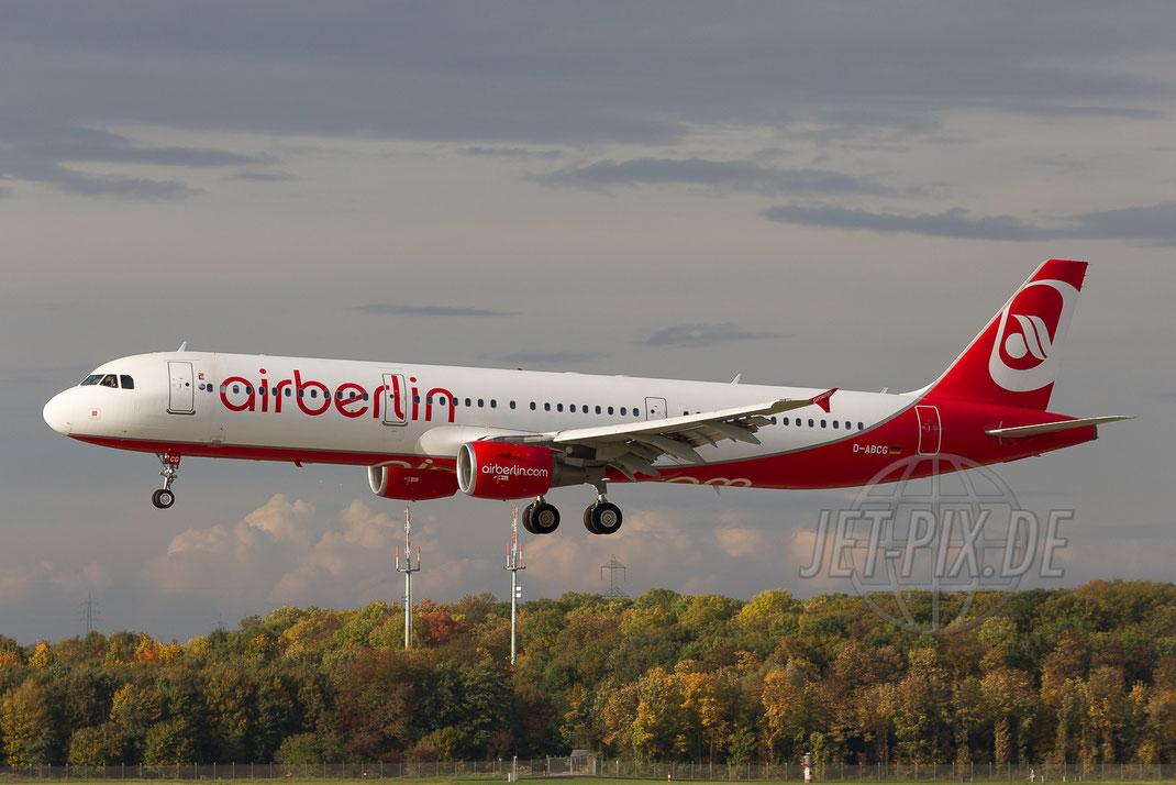 D-ABCG AirBerlin Airbus A321 2013 10 23 EDDL Düsseldorf