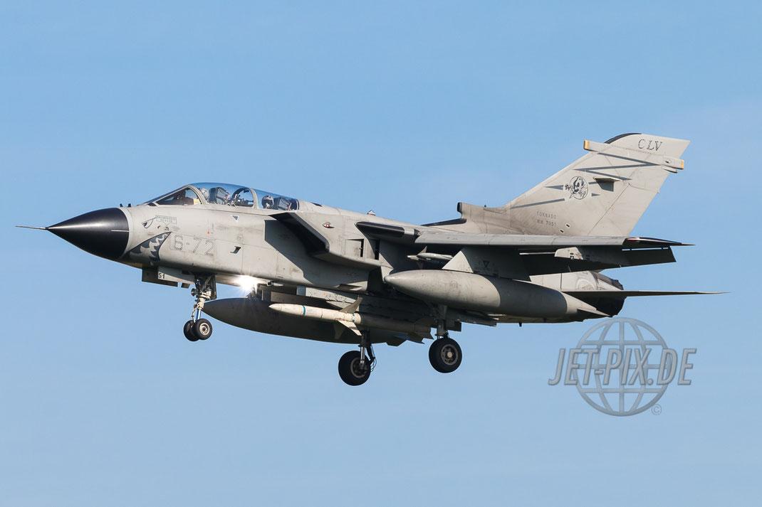 MM7051 6-72 Aeronautica Militare Panavia Tornado ECR Haifischmaul ETNN Nörvenich tolles Wetter blauer Himmel Tornado Spotter Spotting