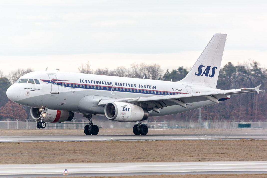 "OY-KBO ""Christian Valdemar Viking"" SAS Airbus A320 2018 03 11 EDDF Frankfurt"