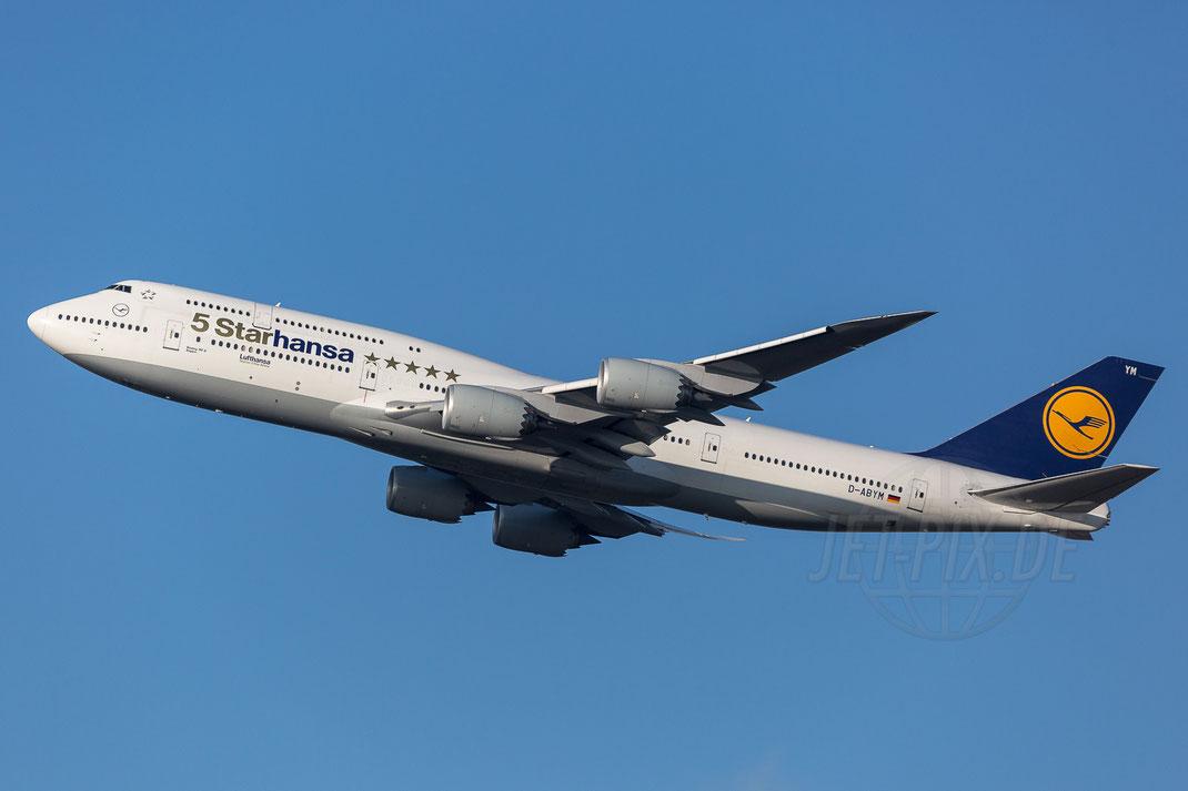 D-ABYM Lufthansa Boeing 5Starhansa***** 747-8 2017 12 07 EDDF Frankfurt