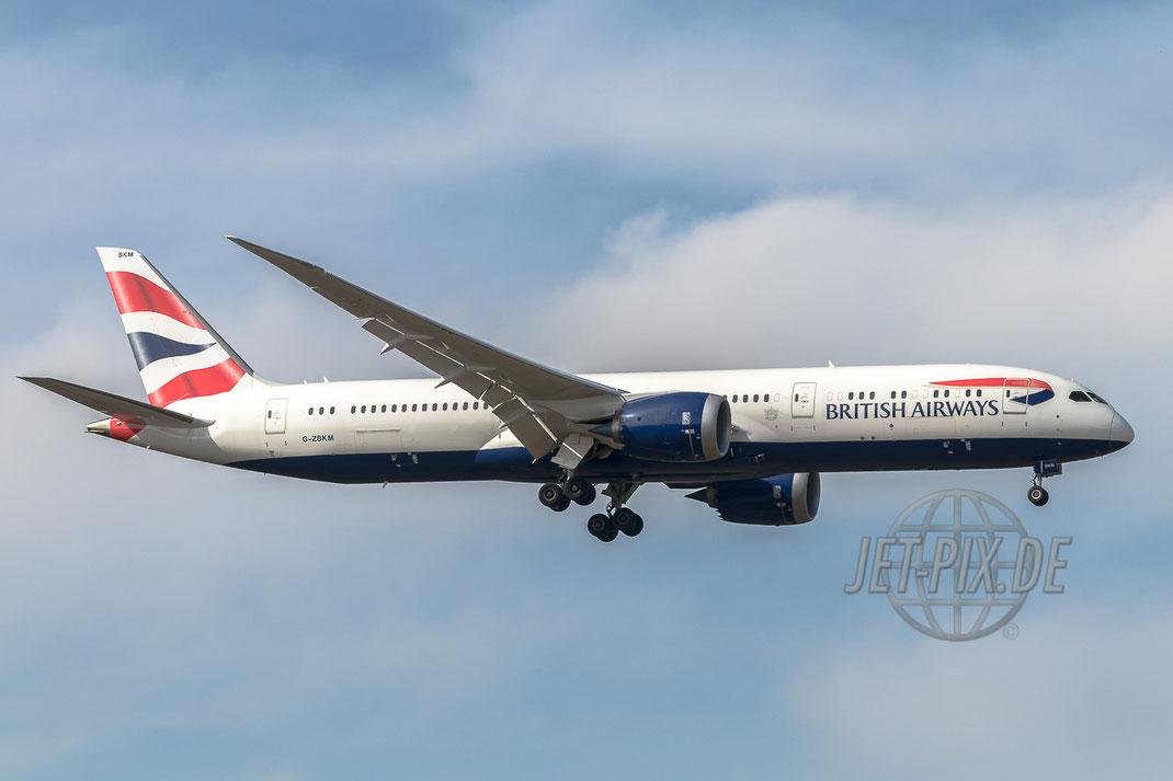 G-ZBKM British Airways Boeing 787-9 Dreamliner 24.03.2017 EDDF Frankfurt Notlandung in Frankfurt Überraschung am Flughafen Fraport Feuerwehr Flughafenfeuerwehr