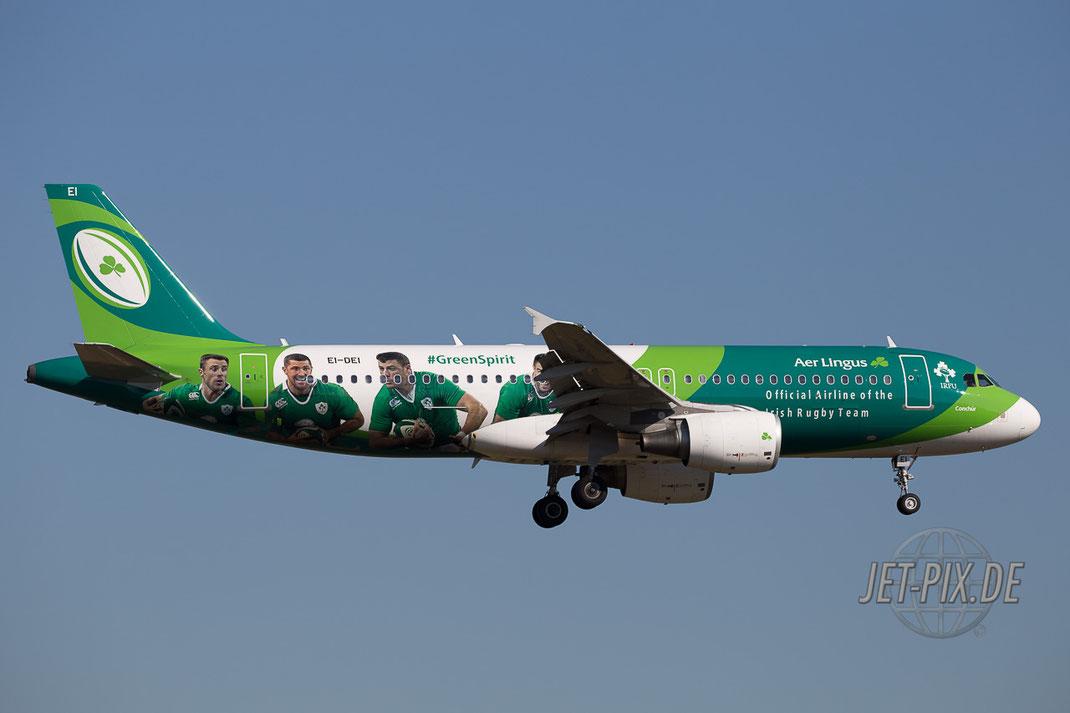 EI-DEI Rugby Irish TEAM Aer Lingus Frankfurter Flughafen Nordwestbahn Spotting Start Landung 25 07 18 Ticona Mönchhofdreieck Tunnel Sommer Schatten Ruhe Plane Jet