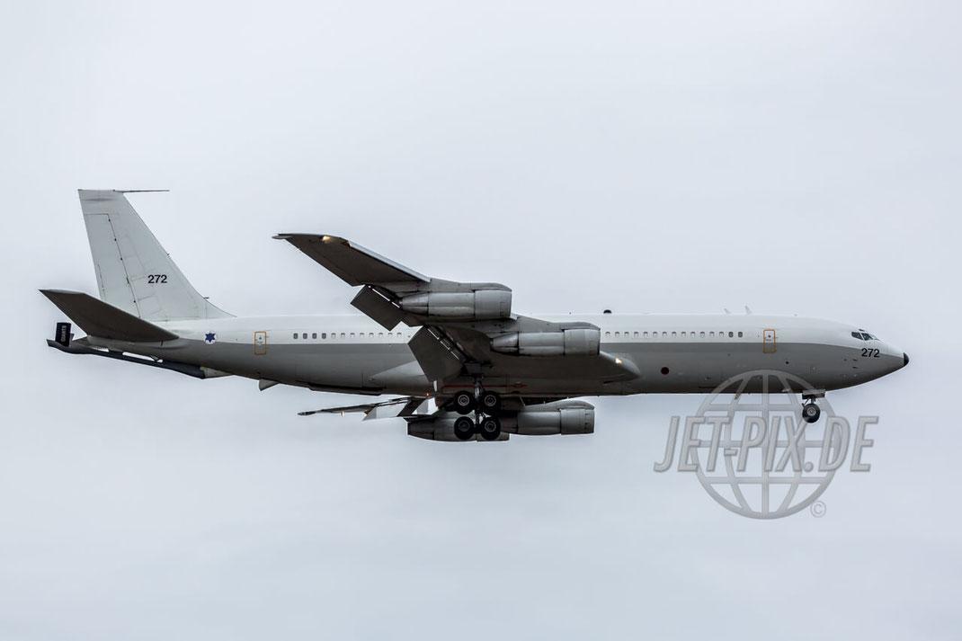 272 Israel Air Force Boeing 707-3L6C 2017 02 05 EDDF Frankfurt Landung Affenfelsen Kerosin Geruch Parken Gratis Spotterplan Spotterguide