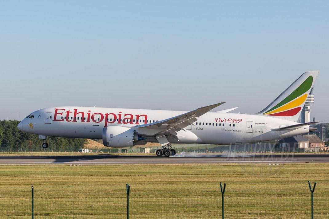 ET-ATG Etiopian Airlines Boeing 787-8 Dreamliner 2017 07 09 (EBBR) Brüssel