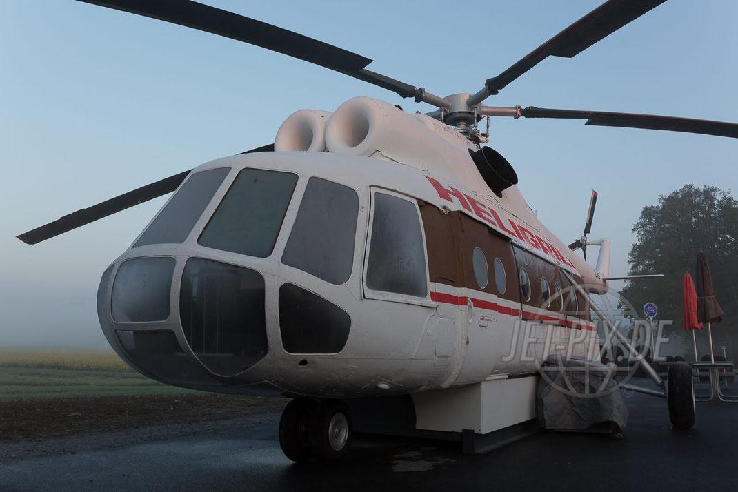 YL-HLG ehemalige YL-HME Mi-8T mit Raureif Heligrill Rümlang Oberglatt Spotter Spotting Spottertreff