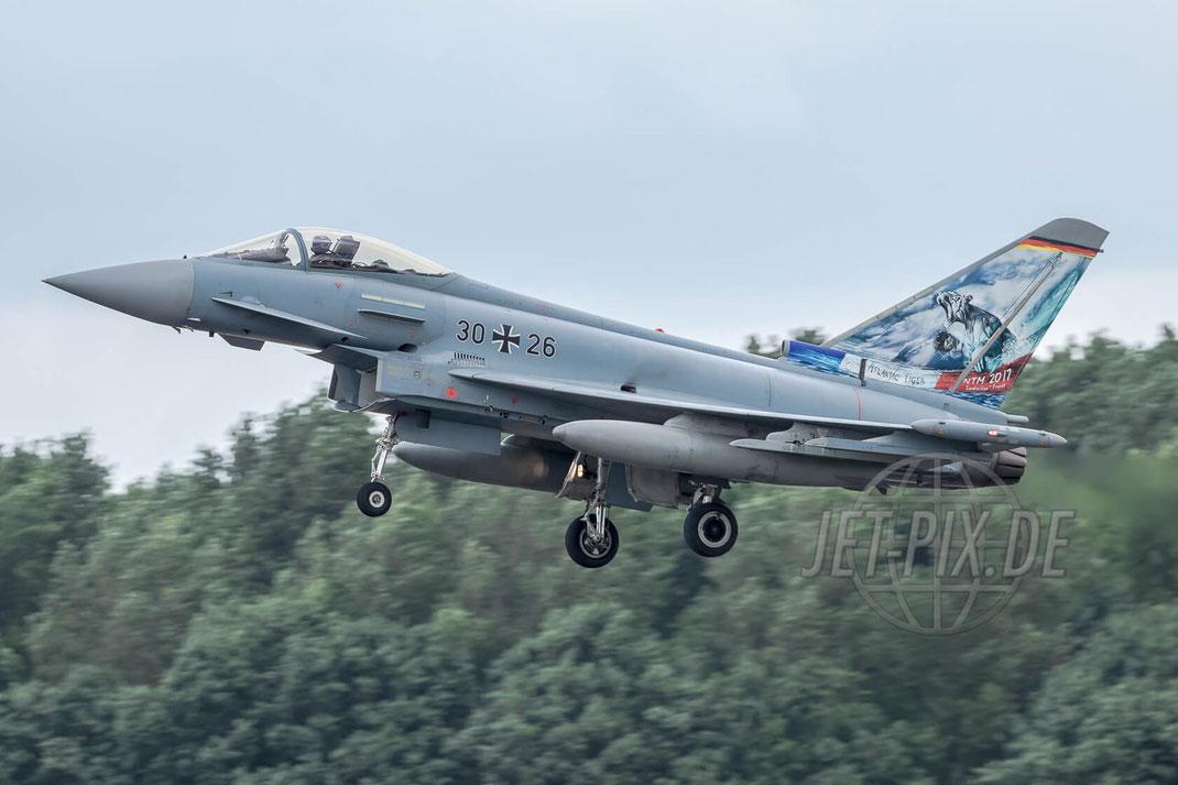 """30+26 German Air Force Eurofighter EF2000 """"Atlantic Tiger"""" 2017 06 30 ETNG Geilenkirchen """"35 Years E-3A"""""""