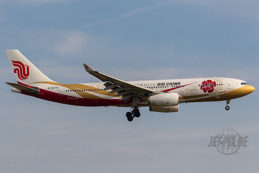 B-6075 Frankfurter Flughafen Spotting Spotter Air China Golden Chen Sonderlackierung Spotting Start Landung 25 07 18