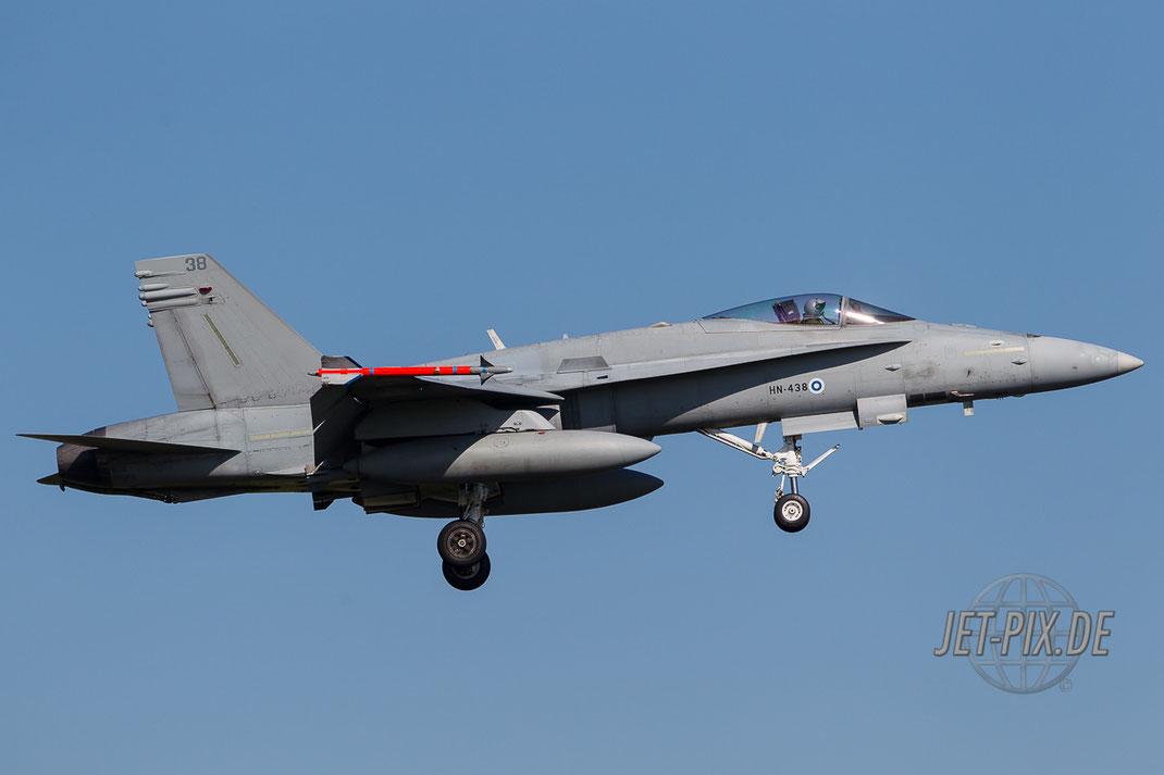 Hornet im Anflug auf Leeuwarden