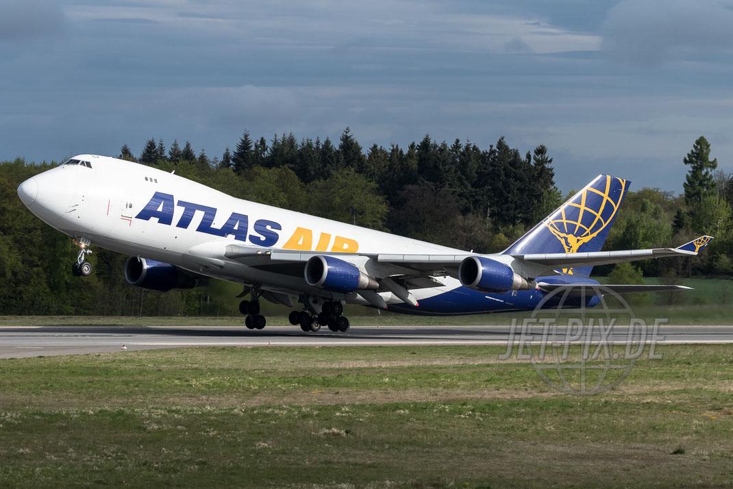 N497MC Atlas Air Boeing 747 2017 05 13 EDFH Hahn