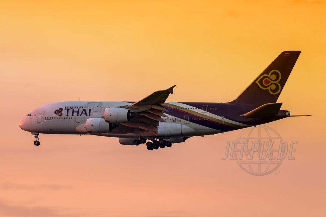 HS-TUC Thai Airways Airbus A380 2017 08 08 EDDF Frankfurt