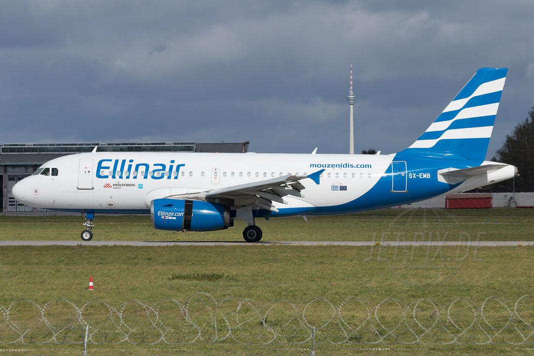 SX-EMB Ellinair Airbus A319-133 2017 10 07 EDDS Stuttgart