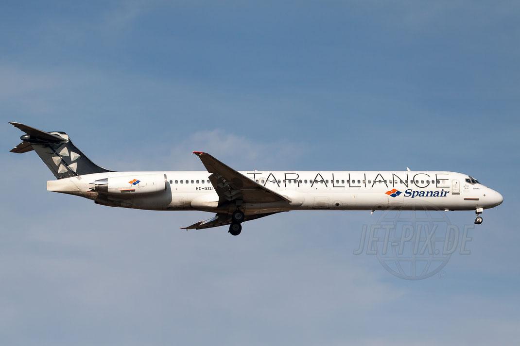 "EC-GXU Spanair ""Star Alliance"" McDonnell Douglas MD-83 (DC-9-83) 2011 11 06 EDDF Frankfurt"