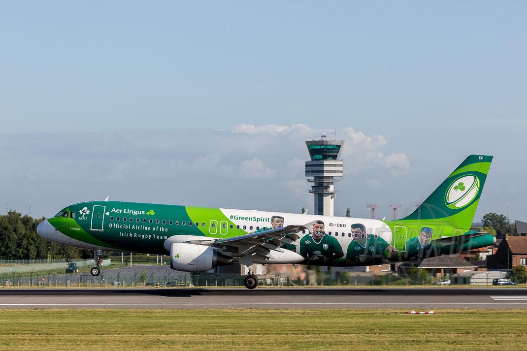 EI-DEO Aer Lingus Airbus A320-214 IrishRugbyTeam 2017 07 13 Brüssel Zaventem (BRU/EBBR)
